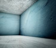 3d corner, concrete plastered interior Stock Image