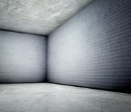 3d corner of old grunge concrete interior Royalty Free Stock Photography