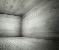 3d corner of old grunge wooden interior Royalty Free Stock Image
