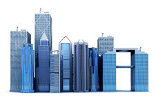 3d corporate buildings Royalty Free Stock Photo