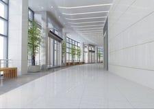 3d corridoio moderno, corridoio Fotografia Stock Libera da Diritti