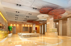 3d corridoio moderno, corridoio Fotografia Stock