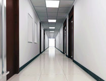 3d corridor Stock Photos