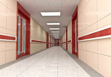 3d corridor Royalty Free Stock Photo