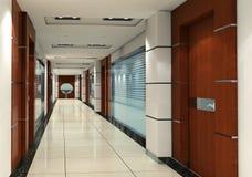 3d corridor Stock Photo