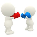 3D couple boxing Stock Photography
