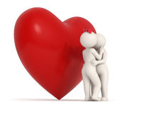 3d couple - heart - kisses Stock Photography