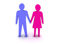 3D couple holding hands. Stock Image