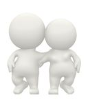 3D couple hugging Royalty Free Stock Photo