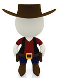 3D cowboy Stock Photography