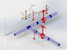 3D Crane gas 2 Stock Photo