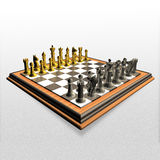 3d create chess art Royalty Free Stock Photos