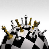 3d create chess art Stock Images