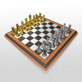 3d create chess art Stock Photo