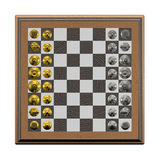 3d create chess art Royalty Free Stock Image