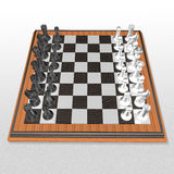 3d create chess art Stock Image