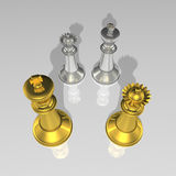 3d create chess art Royalty Free Stock Photography