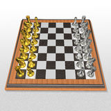 3d create chess art Royalty Free Stock Photo