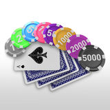 3d create gamble art Stock Photography