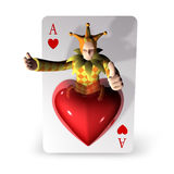 3d create playing card art Royalty Free Stock Images