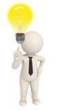 3d creative business man got an idea - bulb Royalty Free Stock Photography