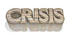 3d crisis Royalty-vrije Stock Foto