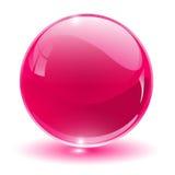3D cristal, esfera de cristal Fotos de archivo