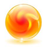 3D cristal, esfera de vidro, vetor. Imagem de Stock Royalty Free