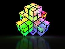 3D a croisé la structure colorée Photo stock