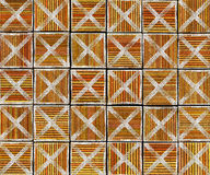 3d cross abstract striped tile backdrop Stock Image
