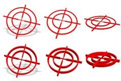 3D crosshairinzameling Stock Afbeelding
