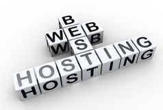 3d crossword 'best web hosting' Stock Photo