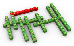 3d crossword przywódctwo umiejętności Fotografia Stock
