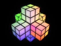 3D cruzó la estructura colorida Imágenes de archivo libres de regalías