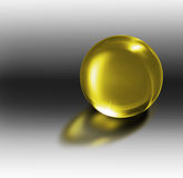 3d crystal ball in a 3d enviroment Royalty Free Stock Images
