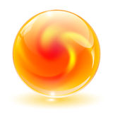 3D crystal, glass sphere, vector. Royalty Free Stock Image