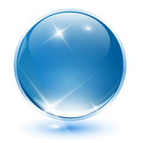 3D crystal sphere Royalty Free Stock Images