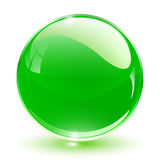 3D crystal sphere. Green, vector illustration Stock Photography
