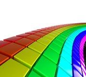 3D cuba la priorità bassa Immagine Stock Libera da Diritti
