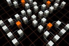3D cuba la priorità bassa Immagine Stock