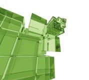 3D cuba o fundo Imagem de Stock Royalty Free