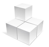 3d cube Royalty Free Stock Photos