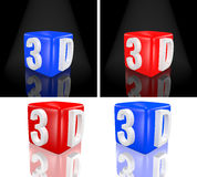 3D cube Stock Photos