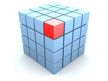 3d cube Stock Photography