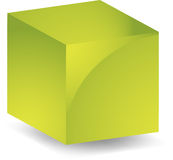 3d Cube. Blank cube geometric 3d shape design illustration Royalty Free Stock Photos