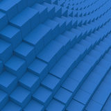3d cube abstraction background. 3d blue cube abstraction background Royalty Free Stock Photos