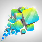3d cube background. 3d bright abstract background -  illustration Stock Images