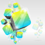 3d cube background Royalty Free Stock Image