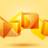3d cube background Stock Photo