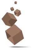 3D Cube  with clipping path. Stock Photography